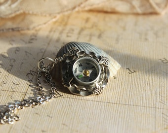 Compass Necklace, Compass Jewelry, Nautical wedding, real compass, wedding, jewelry, Winter gifts, Christmas gifts, bridesmaid gifts, bride