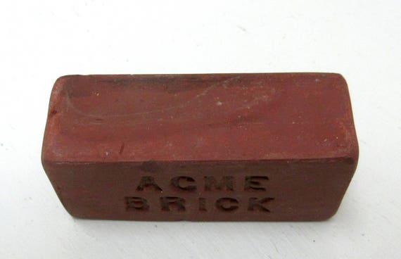 Vintage Miniature Acme Brick Paperweight Salesman Sample Advertising