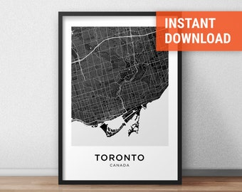 Toronto map etsy gumiabroncs Choice Image