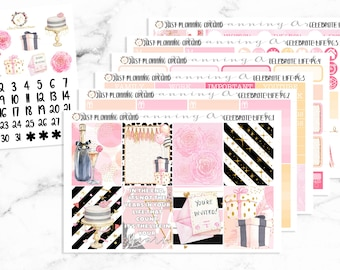 Celebrate Life Planner Kit, Birthday Weekly Kit, Birthday Planner stickers, for use with Erin Condren