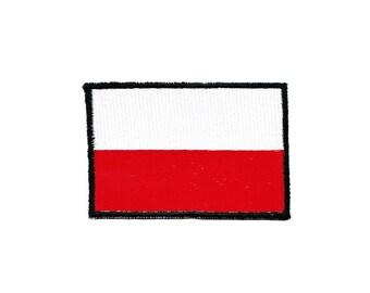 AC49 Poland Poland Flag travel country Biker patch Hanger Patch size 7.0 x 4.8 cm