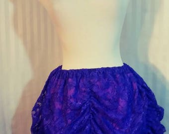 Purple Lace Scalloped Skirt Size Medium 24 to 38 inch wide