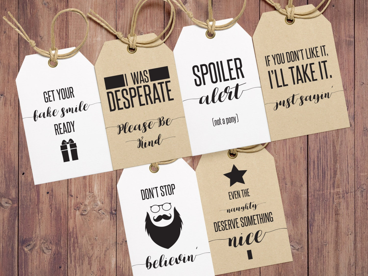 Funny Gift Tags Christmas Gift Tags Holiday Gift Tags