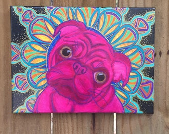 Mandala Mutts Pug Painting
