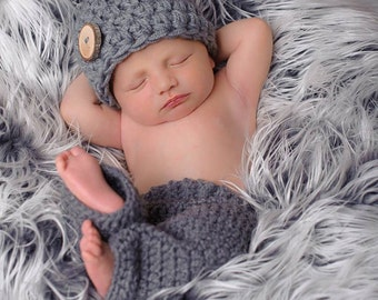 Shower Gift For New Baby ~ Present for New Mom ~ Crochet infant Hat ~ Cozy Newborn Hat, Toddler, Boy, Girl ~ Coming Home Hat For Baby