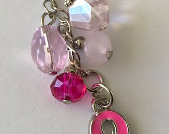 APC042  Breast Cancer Awareness Planner/TN charm with Ball