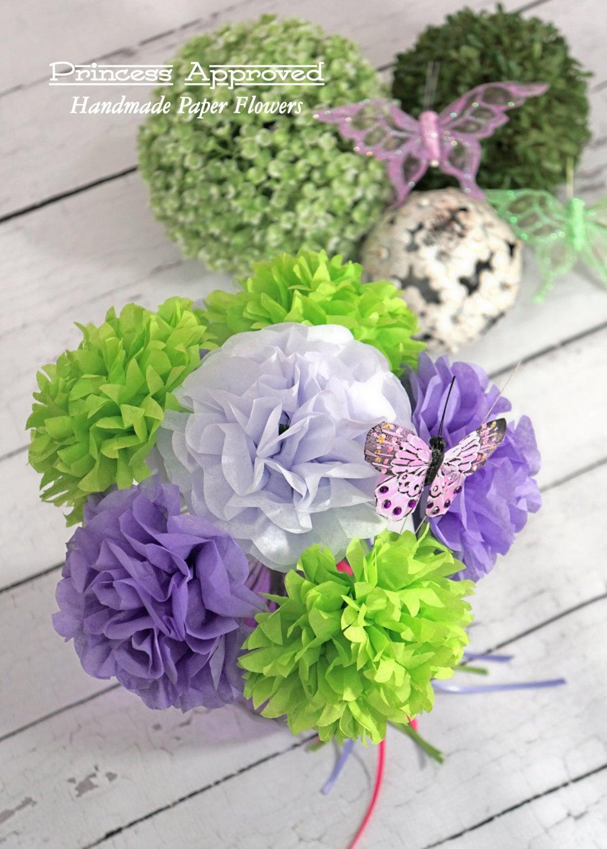 Tinker Bell Inspired Handmade Tissue Paper Flower Bouquet