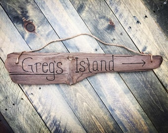 Driftwood Custom Sign - one wood burned sign with engraved message of your choice | Personalized Gift | Welcome Sign Beach Decor Beach Sign