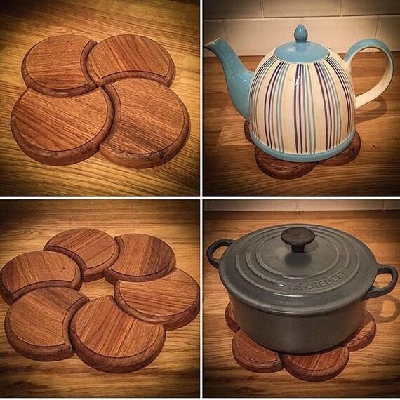 Handmade Interlocking Wooden Coasters