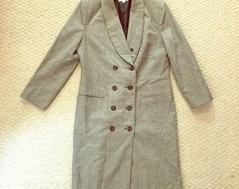 Brooks Brothers vintage double-breasted houndstooth wool coat