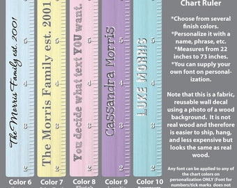 Wooden Growth Chart Ruler, Height Chart Wall Decals, Growth Chart Stickers, Wood Rulers WRO