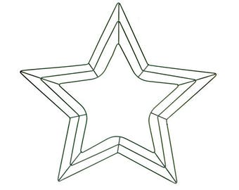 Star Shape Best Quality Green Metal Wreath Form Frame - 18in | Floristry Craft Supplies