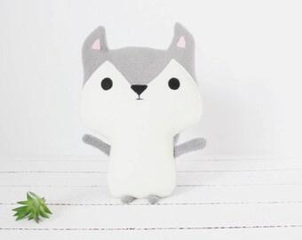 Husky Plush, Husky Stuffed Animal, Stuffed Husky, Husky Toy, Dog Plush, Dog Stuffed Animal, Husky Gifts, Baby Shower, Baby Girl, Baby Boy