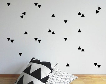 Removable wall stickers - Triangles - Wall Stickers - Set of 50