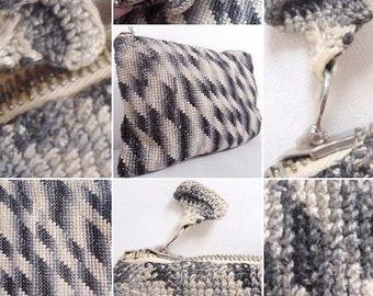 Gorgeous Original 1920s/30s Crochet Modernist Clutch Bag!