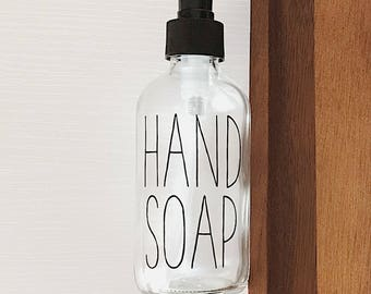 Hand Soap | Glass Hand Soap Bottle | 8 oz