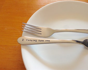 I Forking Love You,Fork Pun,What the Fork,Funny Fork Pun,