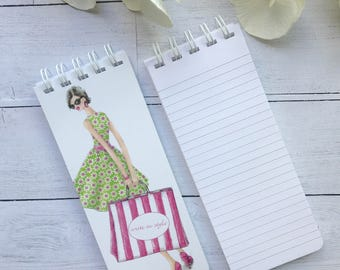 Set of 3 Spiral Bound Notepads, To-Do Lists, Trendy Note Pad, Grocery List, Stocking Stuffer, Shopping Lover, Personalized Note Pa