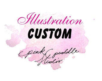 Custom Watercolor Painting Illustration Branding Marketing Gift Holidays