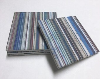 Striped Coasters - Home Decor - Drink Coasters - Tile Coasters - Ceramic Coasters - Table Coasters On Sale