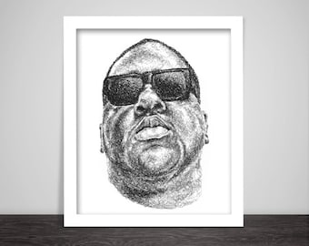Scribbled Notorious B.I.G. - Hip Hop poster