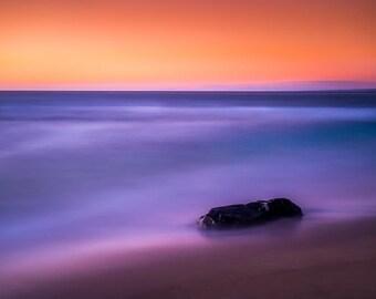 Rock, Sea, and Sky - San Diego, CA Photograph on the Pacific Coast