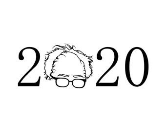Bernie Sanders For President 2020 Vinyl Sticker/Decal