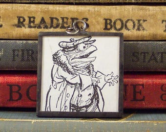Mr. Toad Pendant - Wind in the Willows Pendant - Vintage Book Charm - Bibliophile Book Lover Gift - Literary Jewelry - Mr. Toad Jewelry