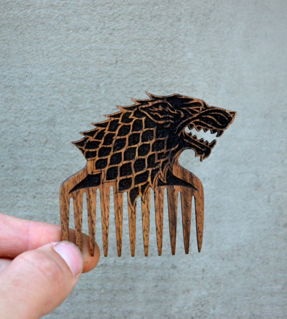 Game of Thrones Gift Dire Wolf Comb Wooden Beard Hair Mustache