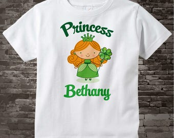 Irish Princess Shirt, Personalized Princess Shirt or Onesie, Princess Shirt for Toddlers and Kids 02062012b