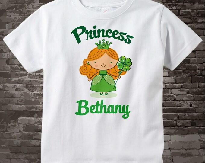 Irish Princess Shirt, Personalized Princess Shirt or Onesie, Princess Shirt for Toddlers and Kids 02062012b