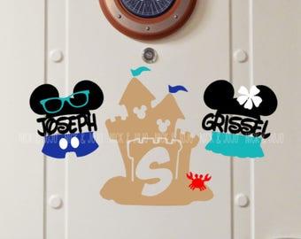 Beach Bum Family Bundle - Disney Cruise Magnet - Door Magnets