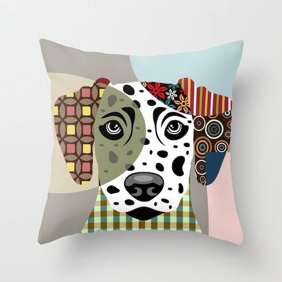 Dalmatian Pillow, Dalmatian Gift,  Dalmatian Art Print,  Dalmatian Accessories, Dog Lover Pillow, Dalmatian Throw Pillow