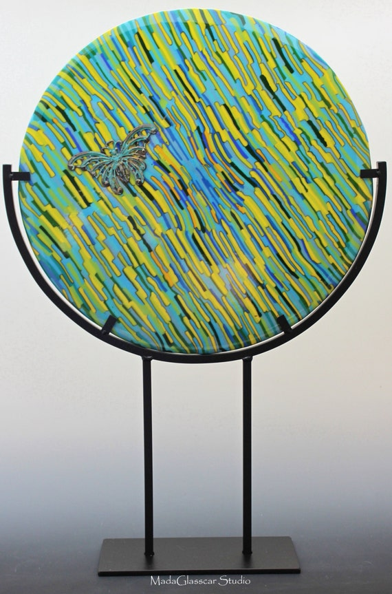 The Grasses Fused Glass Disk