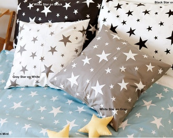 Twill Cotton Fabric Star in 4 Colors By The Yard