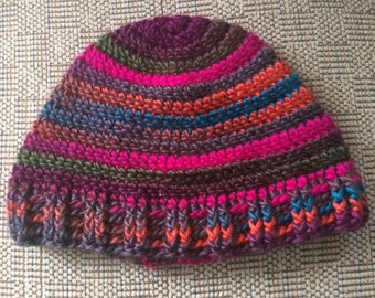 Adult Winter Hat, Teen hat, Adult Hat, Multicolored hat, winter Accessory, striped Hat, Winter Hats, Crochet Hat, Colorful Hat, Striped hat