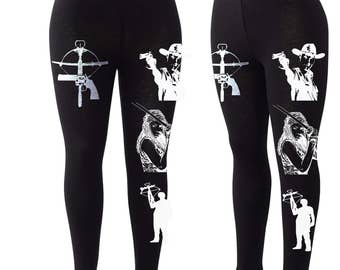 Walking Dead Legging, The Walking Dead, TWD Gift, The Holy Trinity, Rick Grimes, Michonne & Daryl leggings. TWD Leggings.