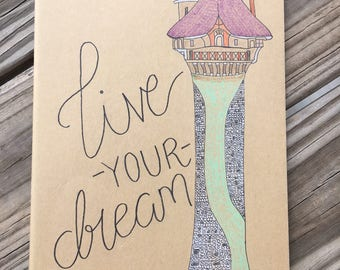 Tangled Live Your Dream X-large notebook