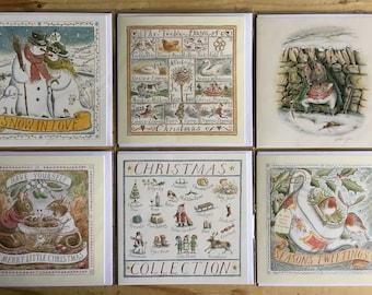 Set of 6 Gillian Tyler Christmas Cards