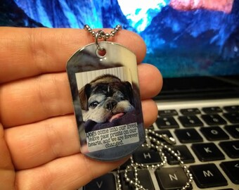 1 Dog picture Necklace  : Your Dog Photo necklace - Custom personalized Dog Necklace - Photo Necklace - Custom Pet Necklace