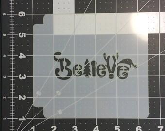 Believe 100 Stencil