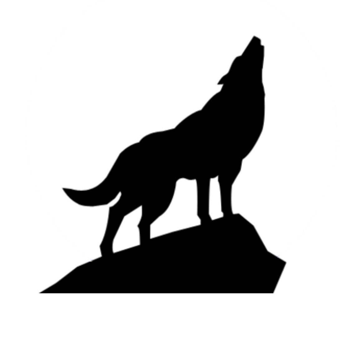 Wolf On Rock Stencil Made From 4 Ply Mat Board Choose A