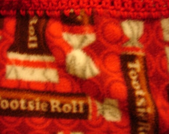 Tootsie Roll Candy Fleece Throw