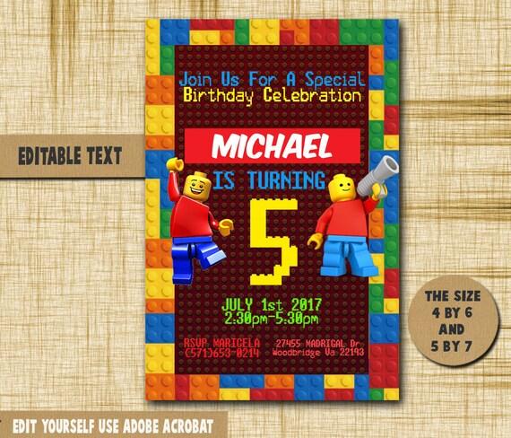 Lego invitation lego birthday lego birthday invitationlego solutioingenieria Choice Image