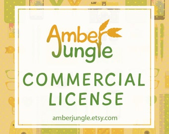 Commercial Use License - No Credit Required - Royalty Free - Create products with AmberJungle clipart - Amber Jungle CU License / Licence
