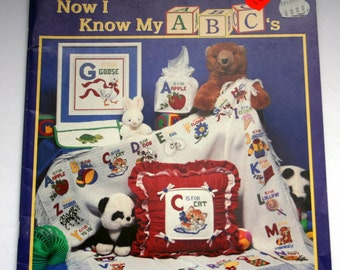 "Stoney Creek Cross stitch pattern Book ""Now I Know My ABC's"" beautiful"