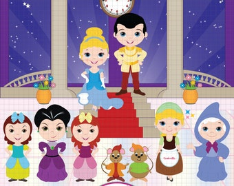 Cinderella clipart, Princess clipart, Fairytale clipart, Cinderella clip art