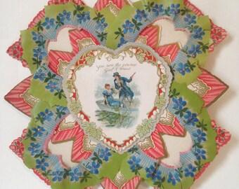 Antique Large 4 Layer Valentine
