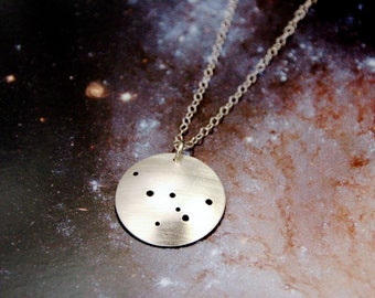 Cassiopeia constellation necklace sterling silver
