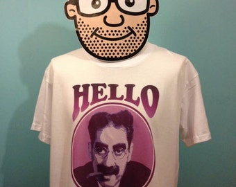 Groucho Marx T-Shirt (Hello I Must Be Going) - White Shirt